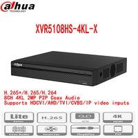 Dahua новый видеорегистратор XVR5108HS 4KL X H.265/H.264 поддерживает HDCVI/AHD/TVI/CVBS/IP видеовходов pal /ntsc multi языке 10 ТБ