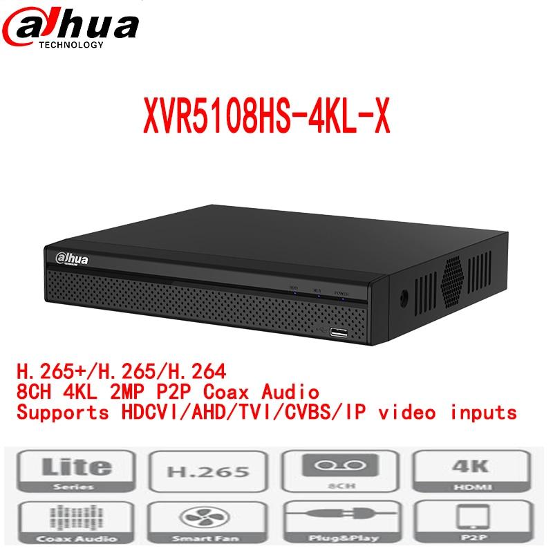 Dahua nouveau dvr enregistreur XVR5108HS-4KL-X H.265/H.264 Soutient HDCVI/AHD/TVI/CVBS/IP vidéo entrées pal/ntsc multi-langue 10 tb