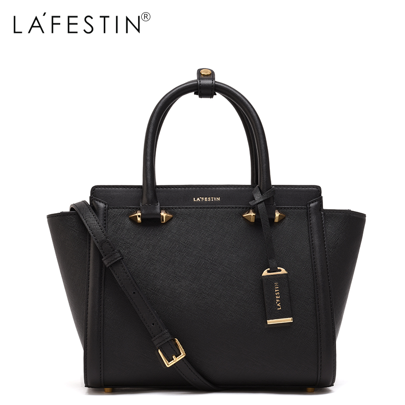 LAFESTIN Famous Handbags Women Designer Real Leather bags Trapeze Shoulder Luxury Totes Multifunction brands Bag bolsa