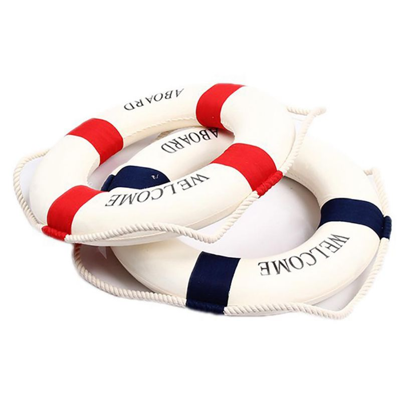 Foam Home Decor Nautical Decorative Lifebuoy Life Ring Wall Hanging Decorative Ring Room Bar Home Decoration