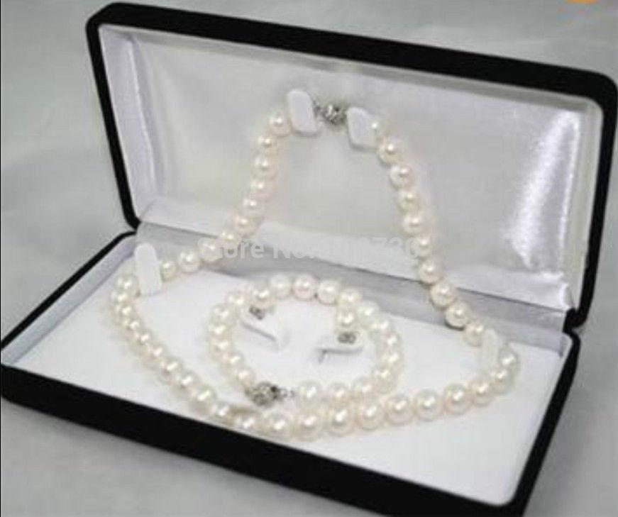 08909f83c808 Joyería 00917 8-9mm blanco perla cultivada de Akoya collar pendiente de la  pulsera AAA (sin caja)