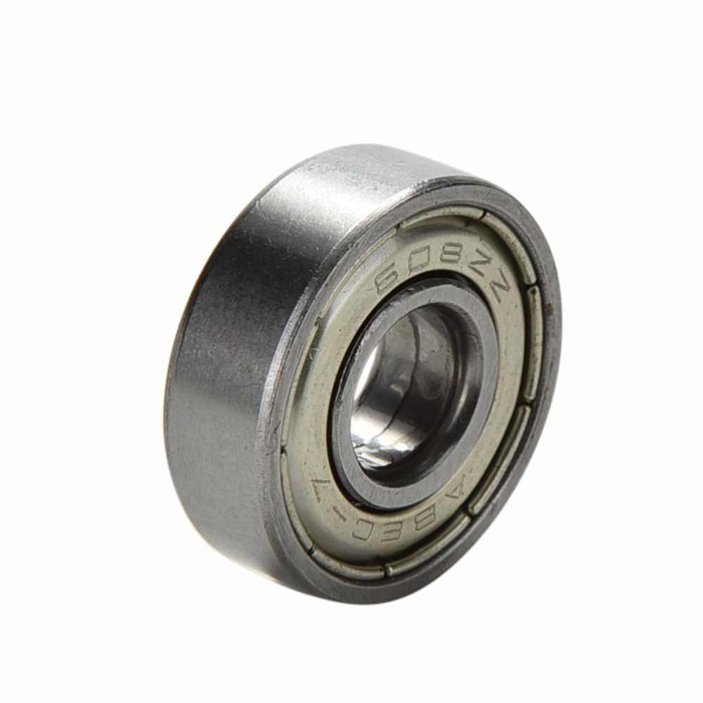 10 adet/grup ABEC 7 608ZZ şaftları paslanmaz çelik rulmanlar makaralı Scooter rulmanlar paten kaykay jantlar gümüş rulmanlar