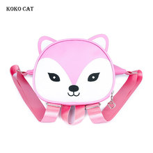 3D Fox Design Baby Bag for Boys Girls Waterproof Children Backpacks Mini Kids Girl Cute Animal Prints Travel Bags Toys Gifts