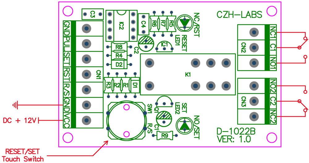 D-1022B_board switch indicate