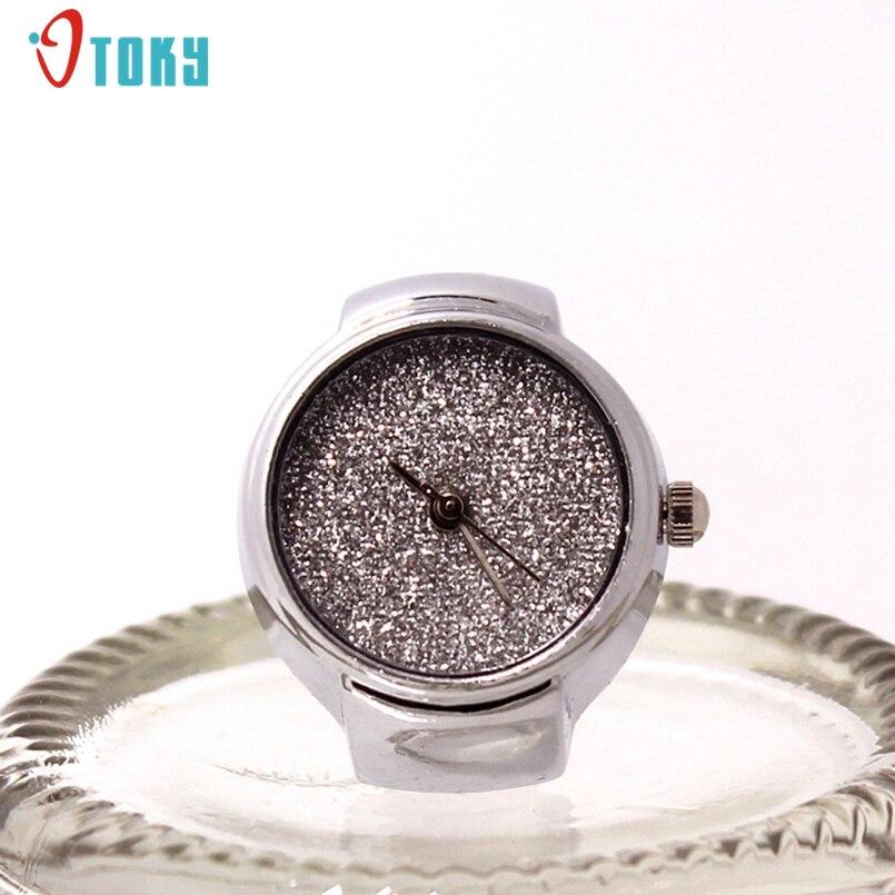 New Arrive Dial Quartz Analog Watch Creative Steel Cool Elastic Quartz Finger Ring Watch Promotional Gifts #N01