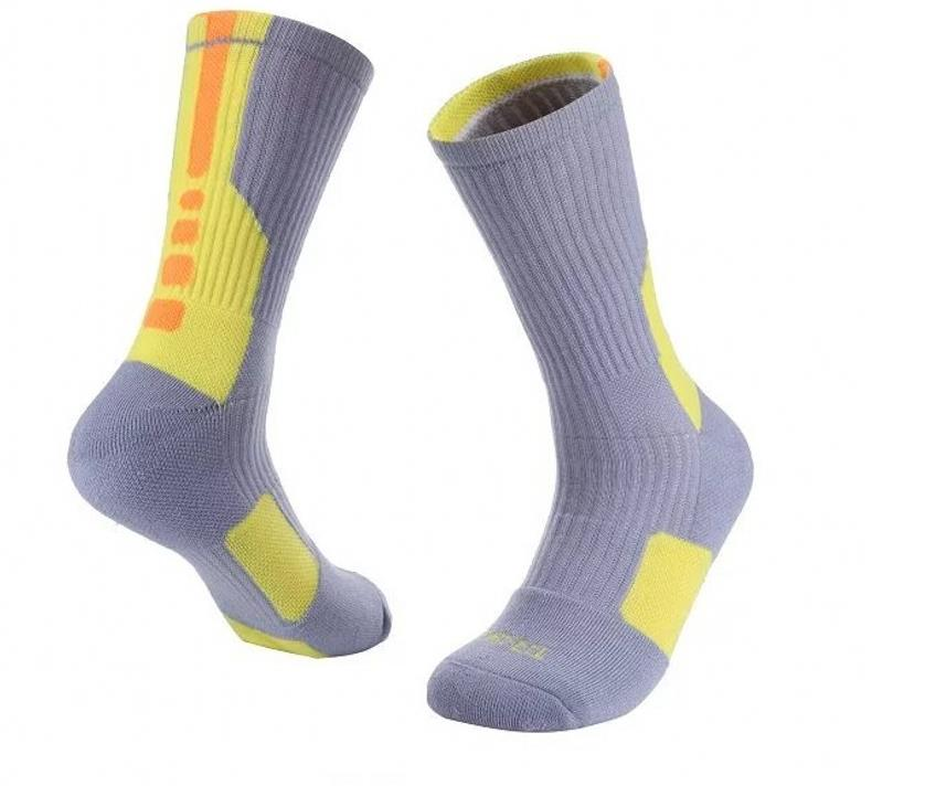 Men thick cotton knee high cotton terry cushion custom protection deodorant antiskid Professional basketball elite sports socks