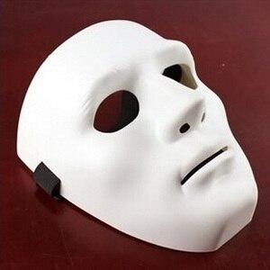 Image 4 - ליל כל הקדושים המפלגה DIY מפחיד מסכות לבן מלא פנים קוספליי מסכות פנטומימת מסכת מסכות כדור מסיבת תחפושות
