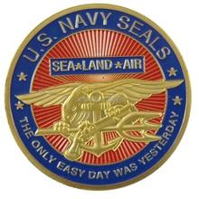 ВМС США Seal Team Позолоченные вызов монет/Медаль 1000