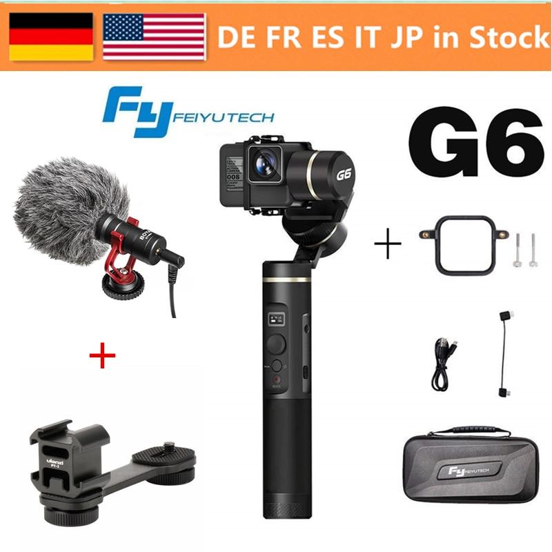FeiyuTech Feiyu G6 3 Assi Handheld Gimbal Stabilizzatore per la macchina fotografica di azione GoPro Hero/6/5/4/ 3 +/3 YI Cam 4 k/AEE et GoPro sessioni di S