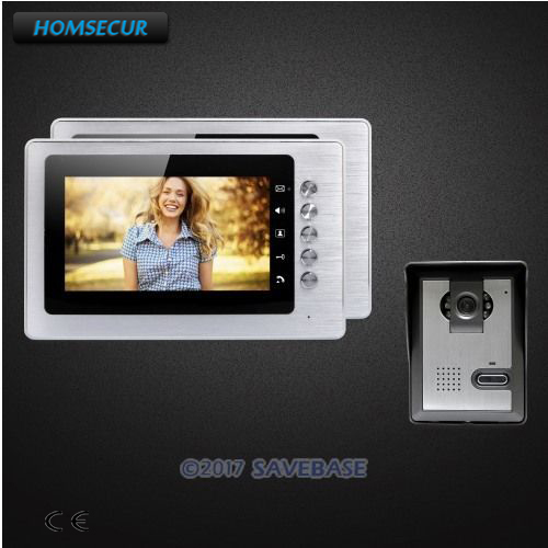 HOMSECUR 7 Wired Video Door Entry Security Intercom with Mute Mode for Home Security