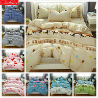 2019 New Creative Beige Duvet Cover 3/4 pcs Bedding Set Adult Child Soft Bed Linen Single Full Double Queen King Size Bedspreads
