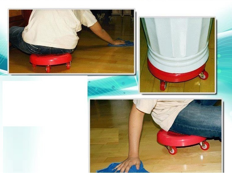 children playing game stool change shoes seat red color garden leisure boy girl Hide and seek games stool