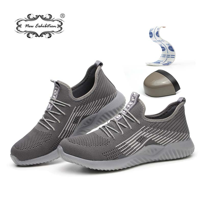 New exhibition safety shoes 2019 men s summer breathable nti smashing piercing site safety work Lightweight