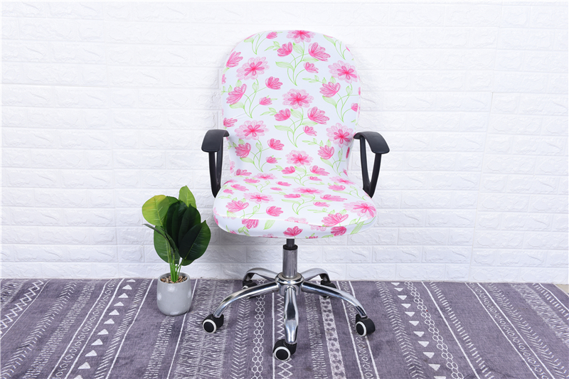 Elasticity Office Computer Chair Cover Side Arm Chair Cover Recouvre Chaise Stretch Rotating Lift Chair Cover Without Chair (18)