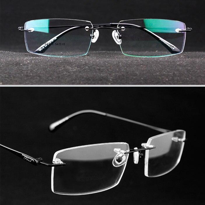 Randlose rahmen brillenfassungen optische brillen aluminium ...