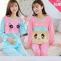 2015 nueva posparto lactancia otoño y el invierno de algodón chándal manga larga mujeres embarazadas pijamas