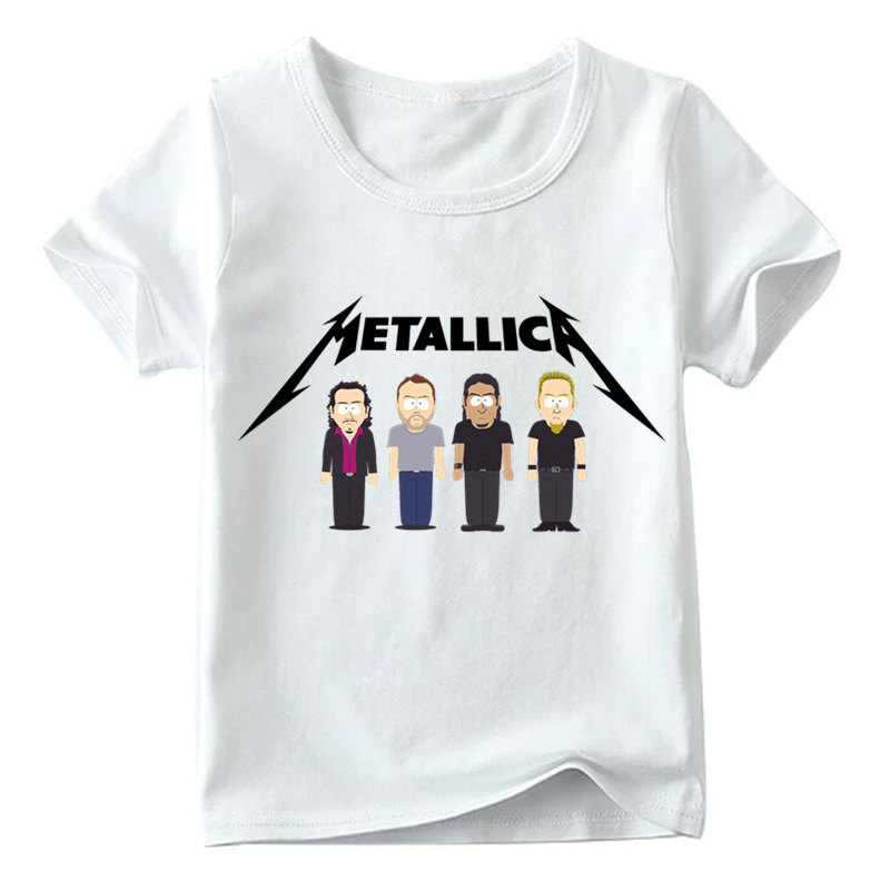 Children Famous Rock Band Metallica Heavy Metal Rock Printed T shirt Baby Boys/Girls Summer Tops Kids Casual T-shirt,HKP330 trail order 10pcs lot 22 colors fashion baby girl mini chiffon flowers hair clips sweet girls hairpins for kids hair accessories