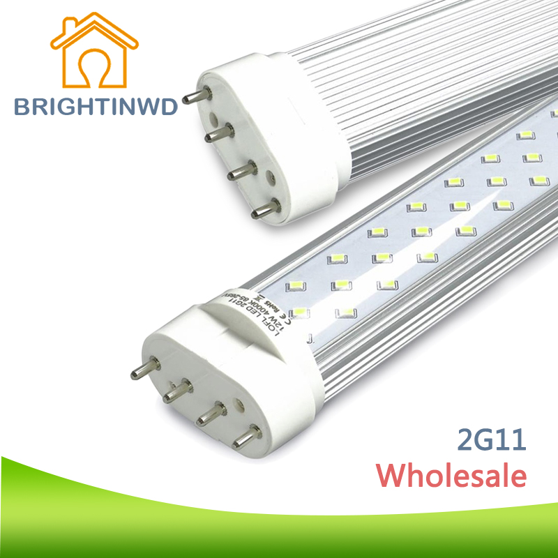 BRIGHTINWD 20pcs/lot LED Tube Light 2G11 Dimmable Lampada LED 9W 12W 16W 22W 110V 220V Replace Halogen Tube Wall Light led tube 4pin linestra 2g11 dimmable lamp pll lamp pl bar 9w 12w 16w 22w 110v 220v 225mm 320mm 415mm 540mm replace halogen