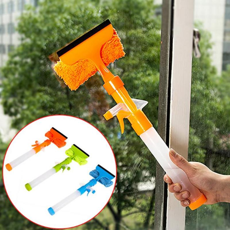 VEHEMO Glass Water Sprayer Wiper Multifunction Cleaner Tool Car Home Garden Kitchen Window Glass cleaning brush Accessories
