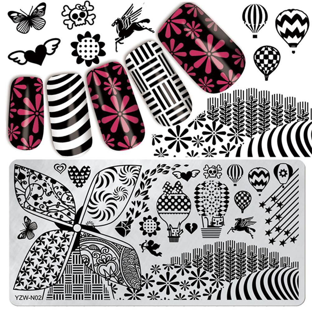 Professional Sale 3d Diy Polish Nail Stamping Plates Flower Stamper Scraper With Cap Stamping Template Nail Manicure Stamp For Nails Art Stencil Nail Art Templates
