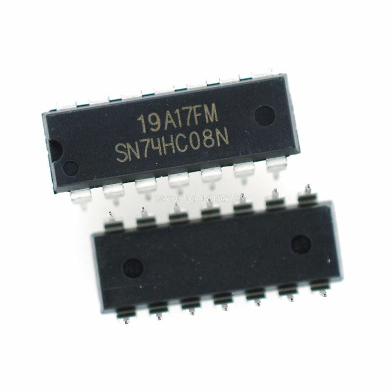 10PCS/LOT SN74HC08N DIP14 SN74HC08 DIP 74HC08N 74HC08 New Dip-14