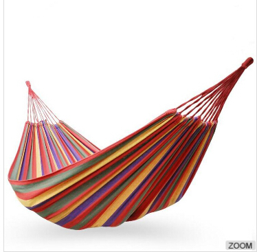 free shipping 280*150cm two Person hammock, cotton hammock tourism camping hunting Leisure Fabric Stripes Outdoor hammocks mcintosh tourism – principles practices philosophies 5ed