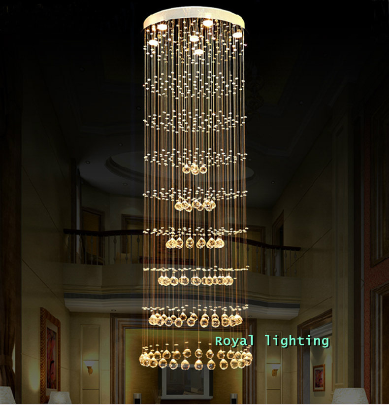stairway Luxury long Spiral crystal pendant lamps H1.5-2.5M Simple led hanging lights modern bar hall dining room pendant lights акриловая ванна alpen alaska 160x70 комплект