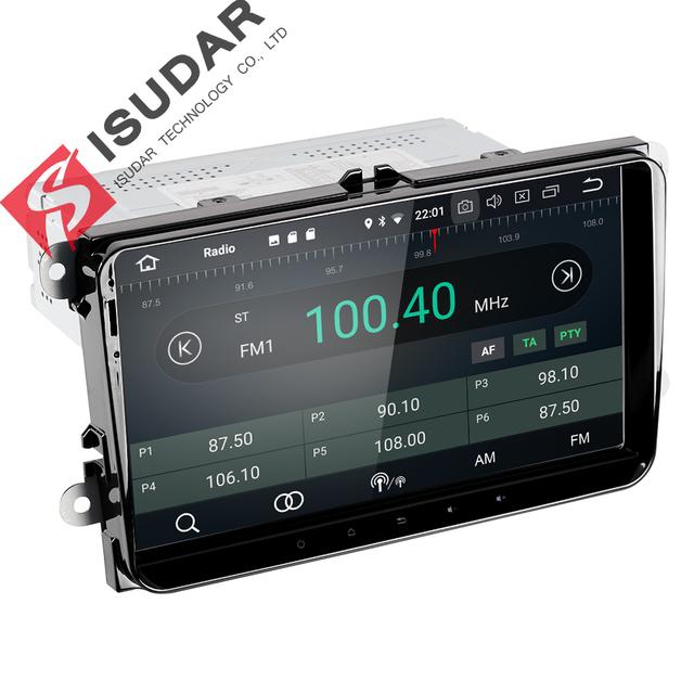 Isudar Car Multimedia player Android 8.0 GPS 1 Din Stereo For Volkswagen/VW/POLO/PASSAT/Golf/Skoda/Octavia/Seat/Leon Radio HD