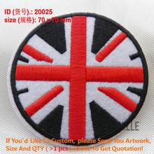 Bandiera Toppe E Stemmi Uk Ferro Circolare Sulla Bandiera Patch di 200 Bandiere di Paesi Militare Su Ordinazione di Applique del Commercio All'ingrosso Ricamato 20025(China)
