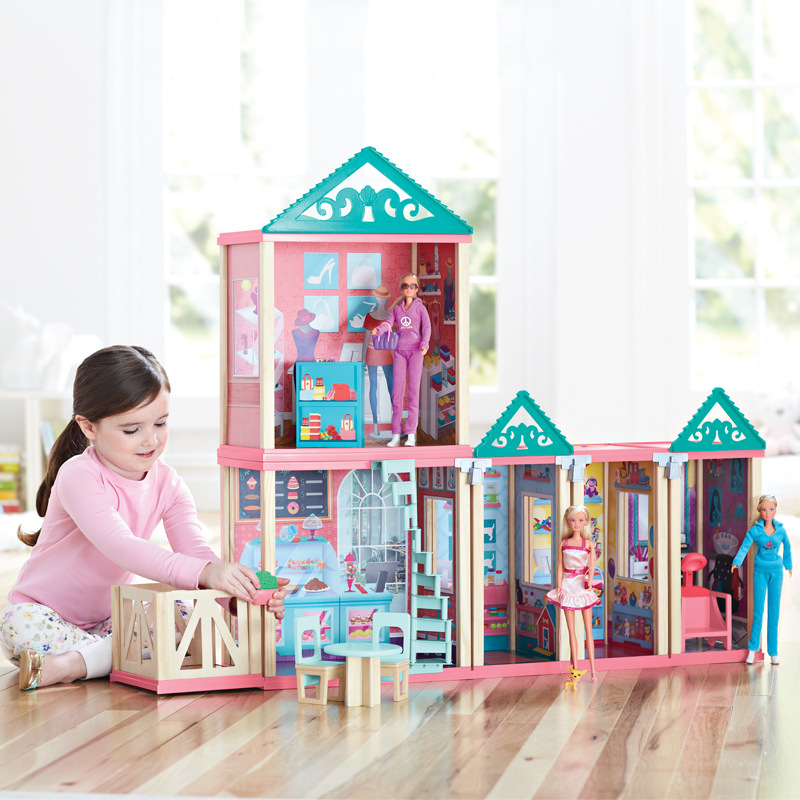 цена на CUTEBEE Pretend Play Furniture Toys Wooden Dollhouse Furniture Miniature Toy Set Doll House Toys for Children Kids Toy House 2