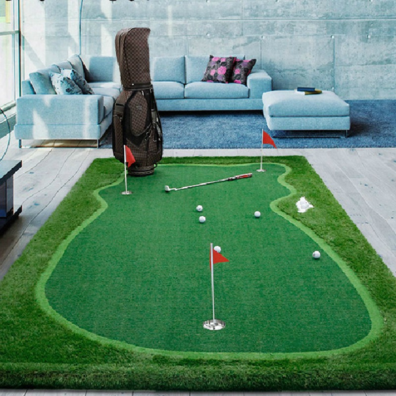 PGM Golf Putting Green Turf Floor Practice Rubber Artificial Golf Mat Training Chippin Driving Hitting Golf Synthetic Golf Turf