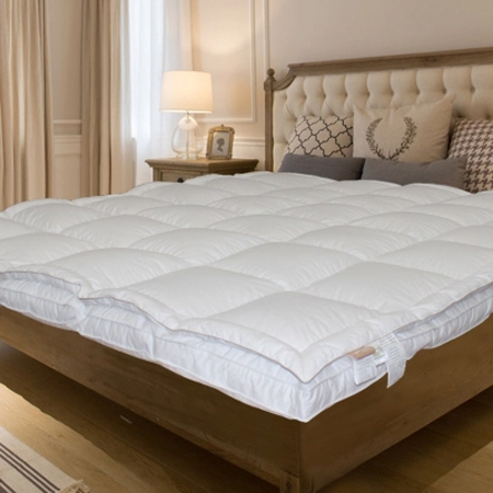 Luxury Bed Mattress Topper Down On Top Feather 95 Whiteduck Tatami Mat American Twin King Queen Pad In Covers Grippers