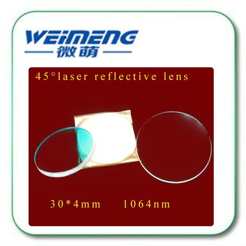 Weimeng marca de alta calidad 45 grados 30*4mm H-K9L material 1064nm HR circular máquina de marcado láser reflector lente óptica