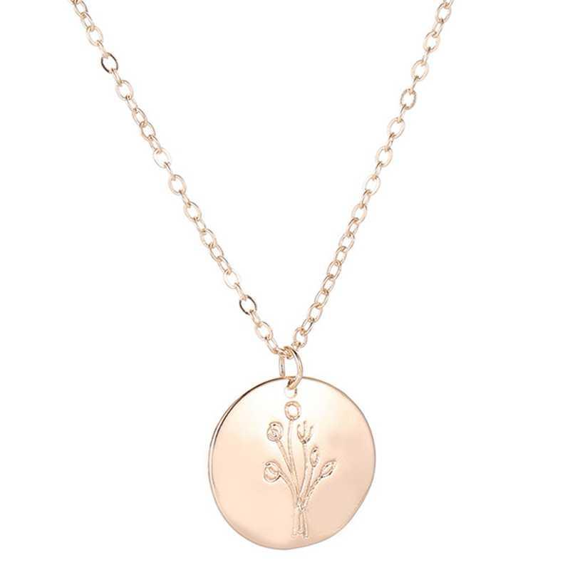 Hot Tree of Life รอบจี้สร้อยคอทองคำขาวเงินผู้หญิงเครื่องประดับของขวัญ