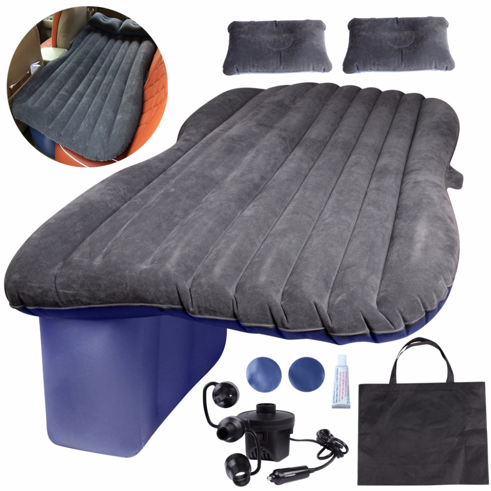 Car Inflatable Mattress Auto Camping Travel Mattress Beds Vehicle Air Bed Cushion Outdoor Travel Beds Sofa with Inflatable Pump durable thicken pvc car travel inflatable bed automotive air mattress camping mat with air pump