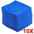 10 Pcs 30*30 cm Azul Macio e Absorvente de Pano de Lavagem de Carro de Alta Qualidade Auto Care Microfibra toalha de Limpeza Toalhas Para Acessórios De Limpeza do carro