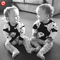 Warm Kids Sweater For Girls Fashion Long Sleeve Black&White Bear Children Boys Sweater Clothes Knitwear Clothes For Baby 12M-5Y