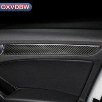 4PCS Car Interior Door Panels Covers Carbon Fiber Strip Sticker for audi a4 B5 B6 B7 B8 accessories Car Styling Refit