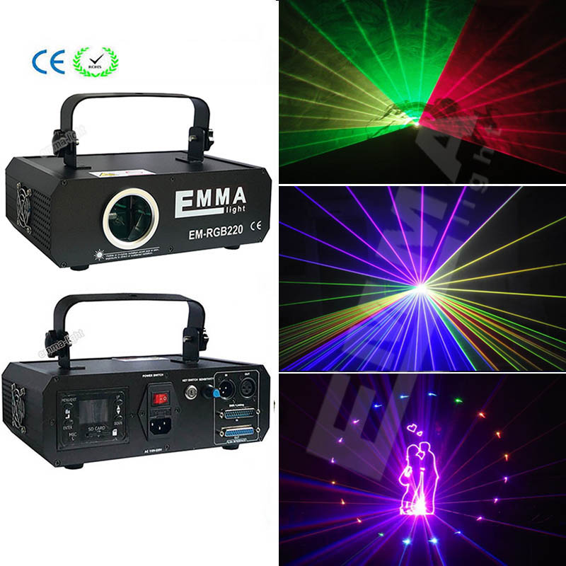 ILDA SD 2D 3D Mutil Functional 500mW RGB laser show system dj equipment laser light stage