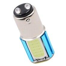 1 قطعة تيار مستمر 12 24 فولت سيارة LED COB الخلفية عكس المصابيح الذيل أضواء الفرامل لمبات وقوف السيارات استجابة أسرع لا الأشعة فوق البنفسجية/الأشعة تحت الحمراء