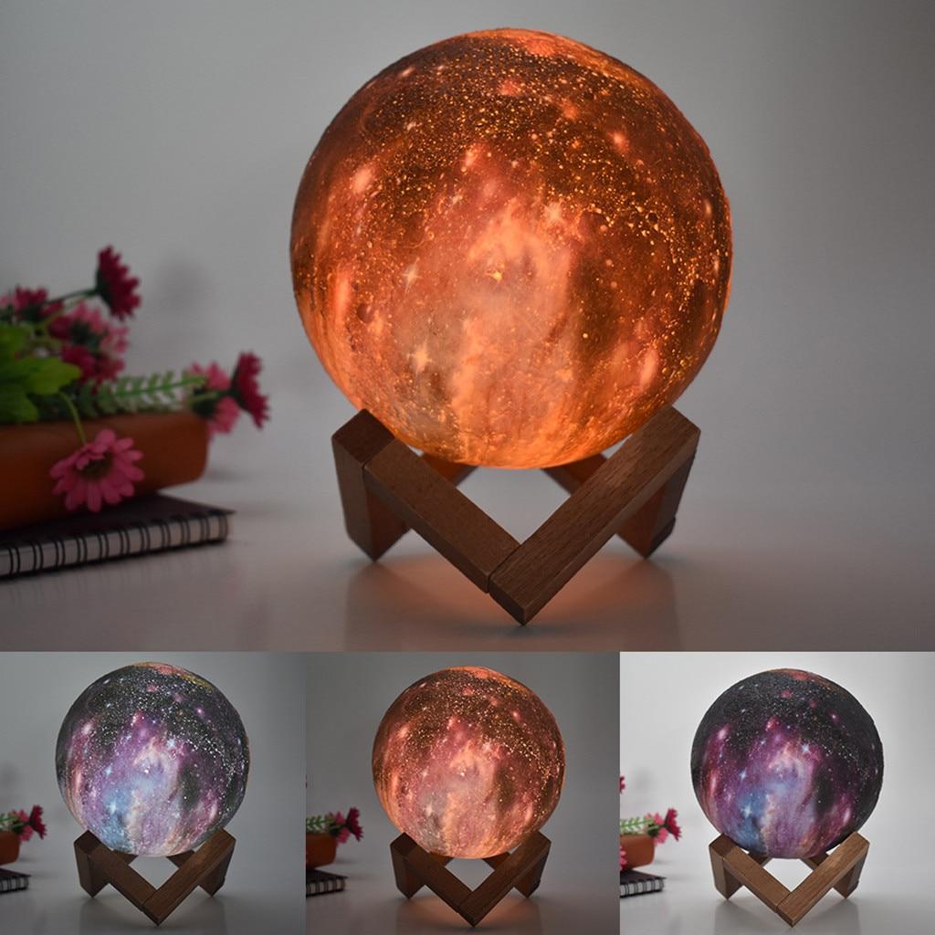 Open-Minded 3d Usb Hand Shot Lights Moon Night Color Change Light Moonlight Table Desk Moon Home Decor Lamp Gift