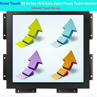 Xintai Touch 32 Inches 16:9 Ratio Capactive/Infrared Touch Screen Open Frame Touch Monitor Resolution (1920*1080)