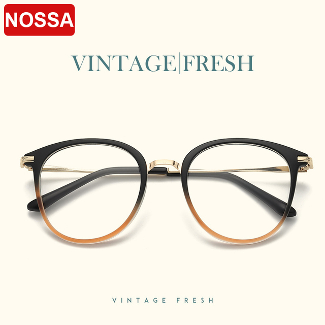 Retro Round Frame Women And Men Eyeglasses Vintage Big Frame ...