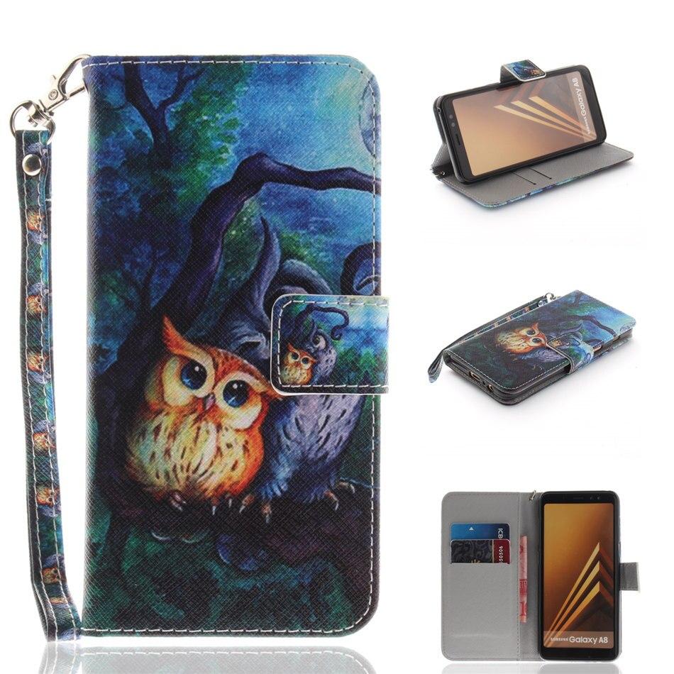 Case For Samsung Galaxy Note 9 8 7 A3 A5 2017 2016 A6 A8 2018 S9 S8 S7 S6 S5 Cute Panda Anger Owl Wallet Card Holder Cover D26G