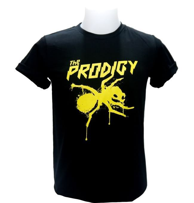 Prodigy Yellow Logo Muška majica DJ Punk Techno Dance Rave Big Beat - Muška odjeća