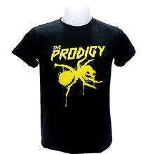 The Prodigy Yellow Logo Men T-Shirt DJ Punk Techno Dance Rave Big Beat Rock Sz Style Short Sleeve Print Cartoon Hip Hop T Shirt худи print bar the beat