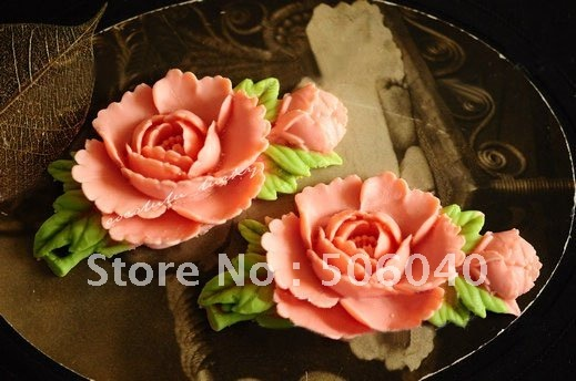 71*38mm Colorful Resin Flower for Jewelry/Mobile phone DIY Decoration Accessorry 50pcs/lot