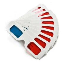 HFES Горячая 100 пар Универсальный бумажный анаглиф 3D стекло es бумага 3D стекло es вид анаглиф красный голубой красный/синий 3D стекло для фильма EF