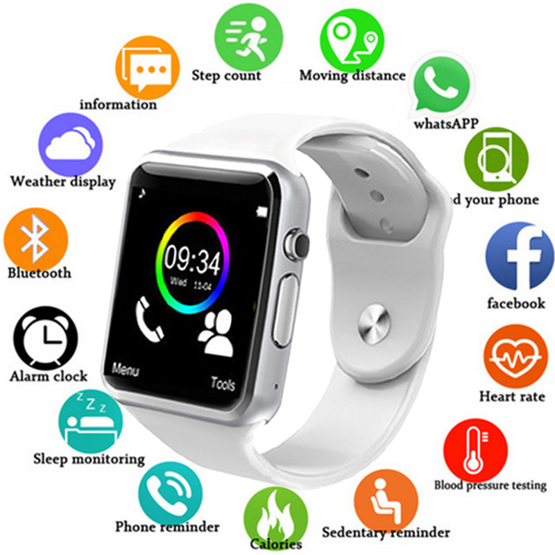 A1 Smart Watch Men Clock Sync Notifier Support SIM TF Card Connectivity Apple iphone Android Phone