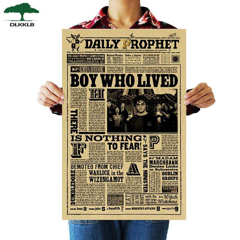 DLKKLB Classic Movie Famous Novel Poster Collection Vintage Kraft Poster Wall Stickers Home Decoration Paintings 51.5x36cm